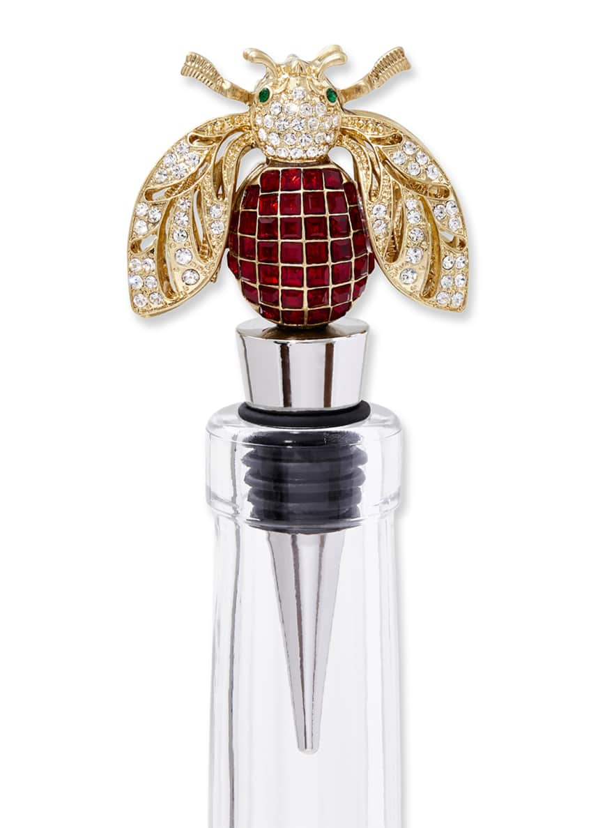 Image 2 of 3: Sparkle Bee Wine Stopper
