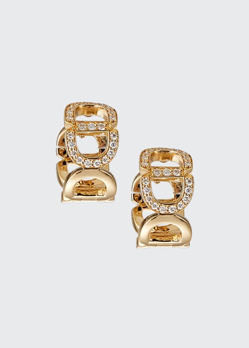 Sydney Evan 14k Diamond Chain-Link Huggie Earrings