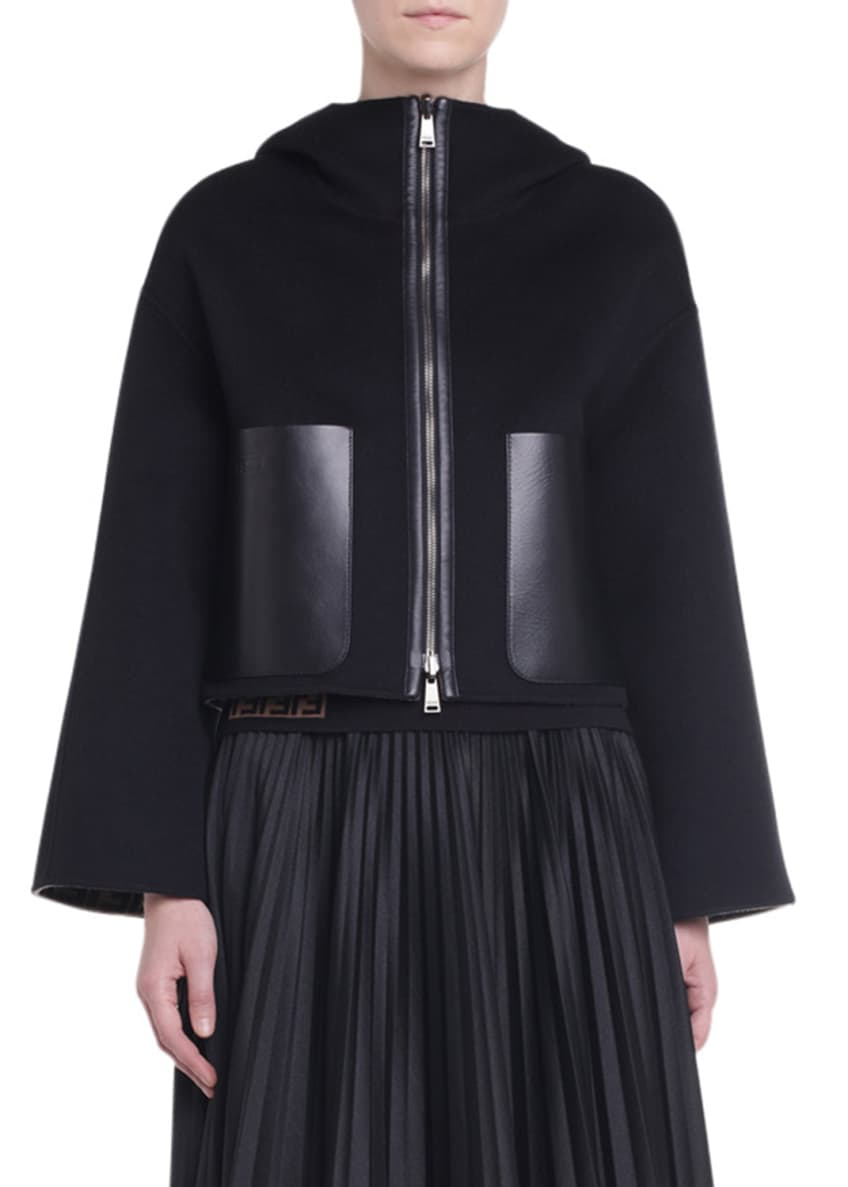 Fendi Wool Hooded Short-Jacket & Matching Items