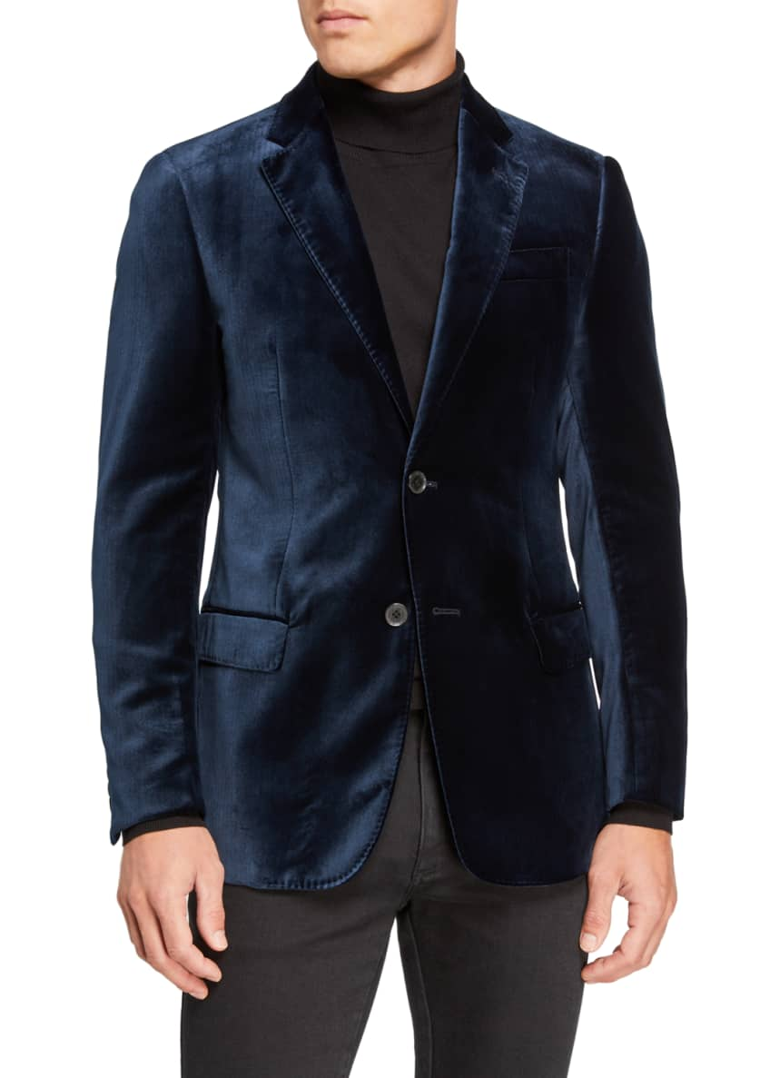 Emporio Armani Men's Velvet Two-Button Jacket