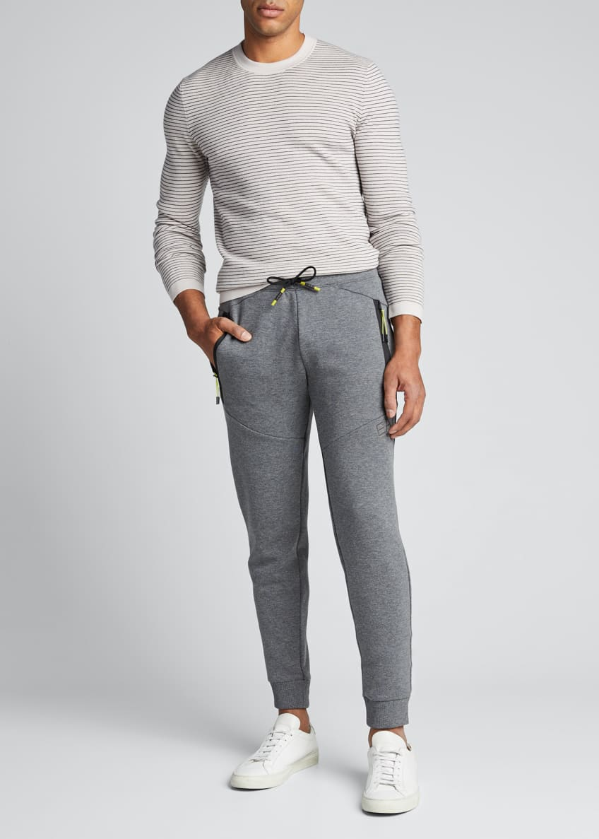 Emporio Armani Men's Heathered Neon-Trim Sweatpants