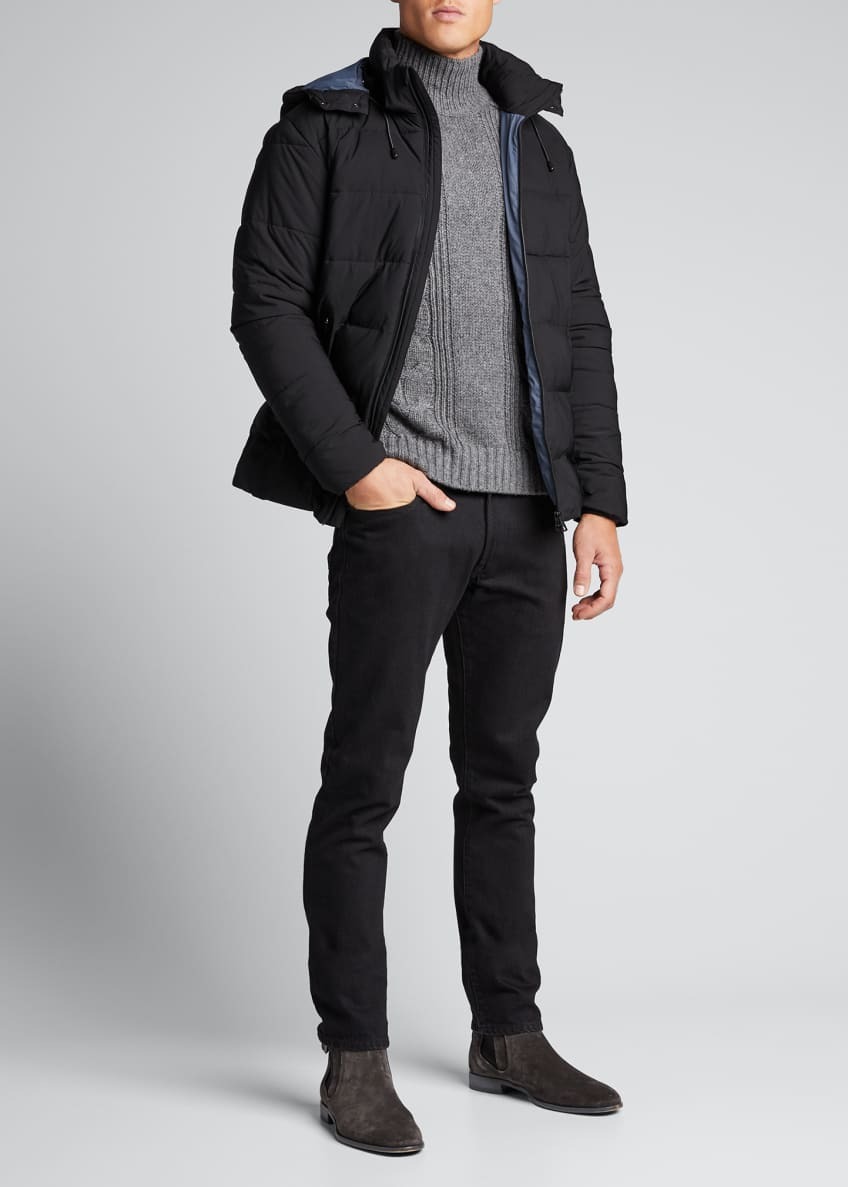 Emporio Armani Men's Solid Mountain Puffer Jacket