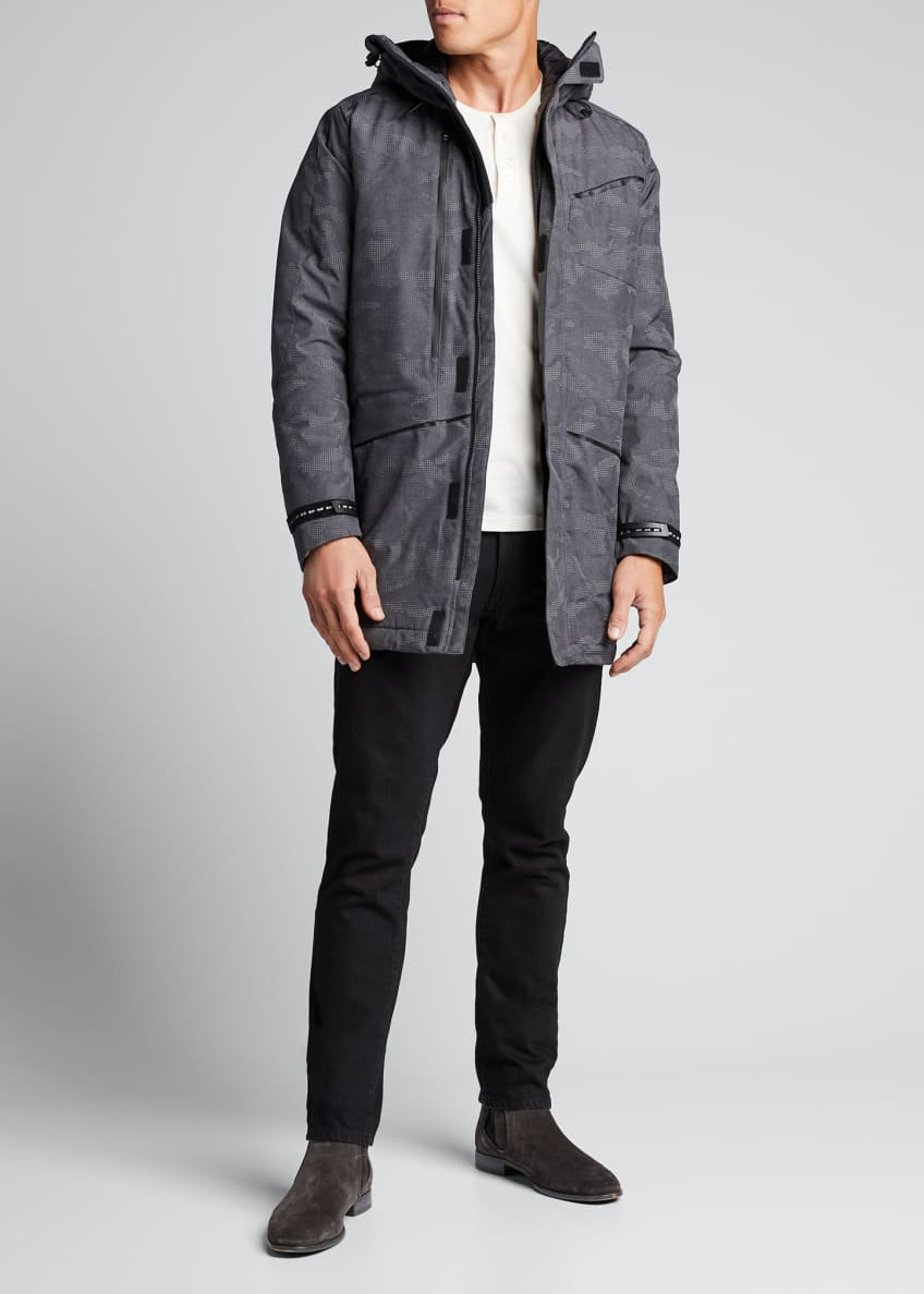 Emporio Armani Men's Camo-Print Reflective Parka Coat