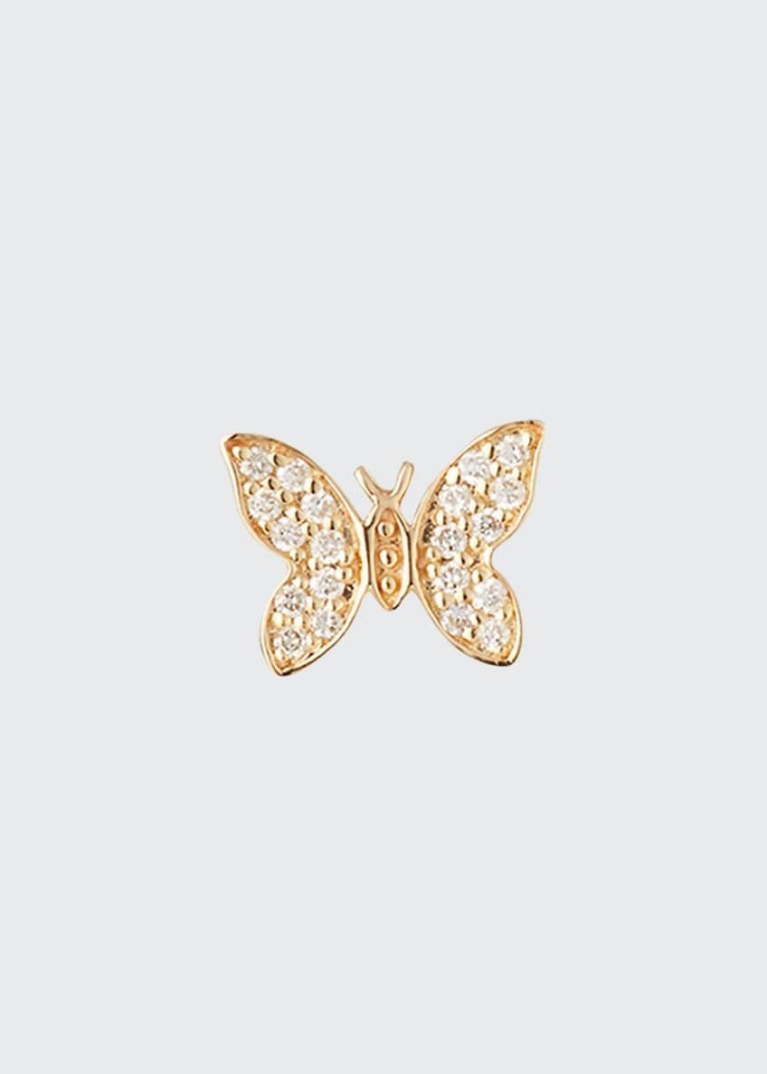 Sydney Evan 14k Diamond Tiny Butterfly Stud Earring,