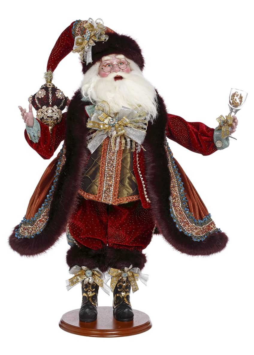 Mark Roberts Champagne Bubbly Santa, 25