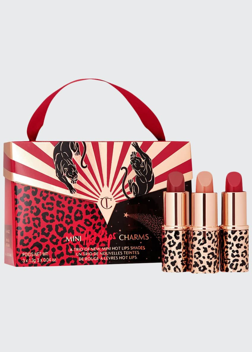 Charlotte Tilbury Mini Lipstick Trio with Handbag