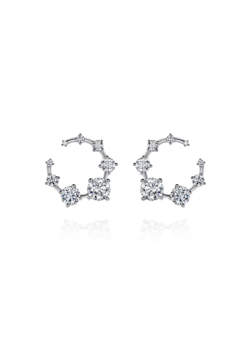 Fernando Jorge 18k White Gold Circular Diamond Earrings