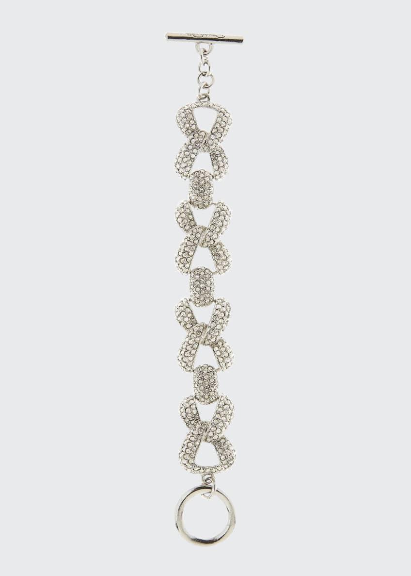 Oscar de la Renta Pave Chain-Link Bracelet