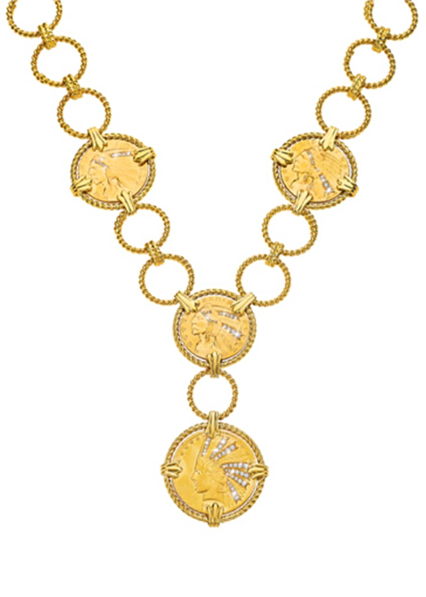 Image 1 of 1: 18k Thirty Buck Necklace with Diamonds