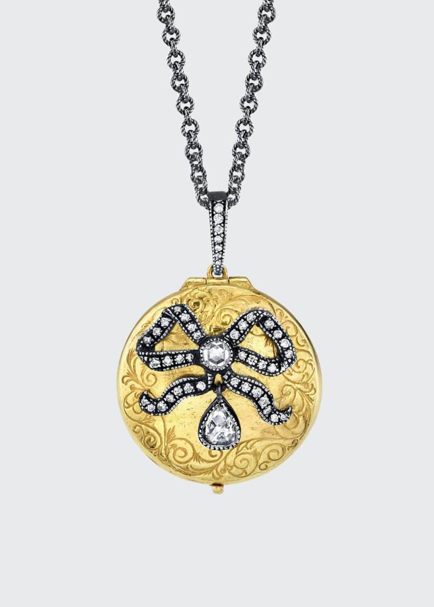 Arman Sarkisyan 22k Diamond Bow Locket