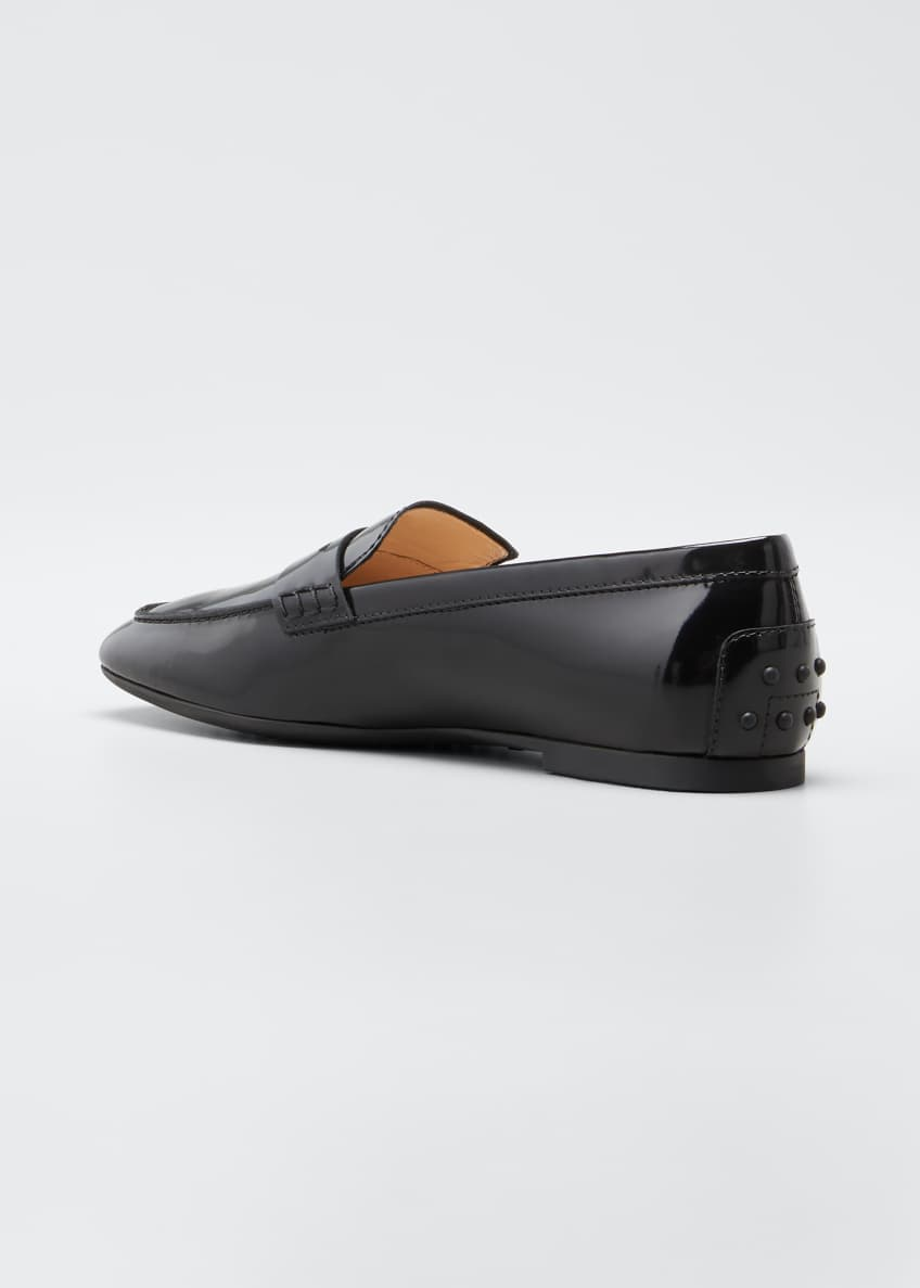 Image 4 of 6: Patent Rubber-Sole Loafers