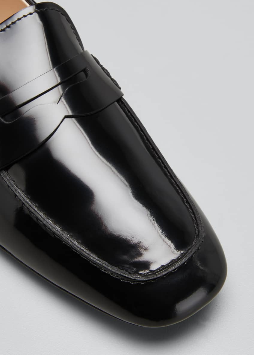 Image 5 of 6: Patent Rubber-Sole Loafers