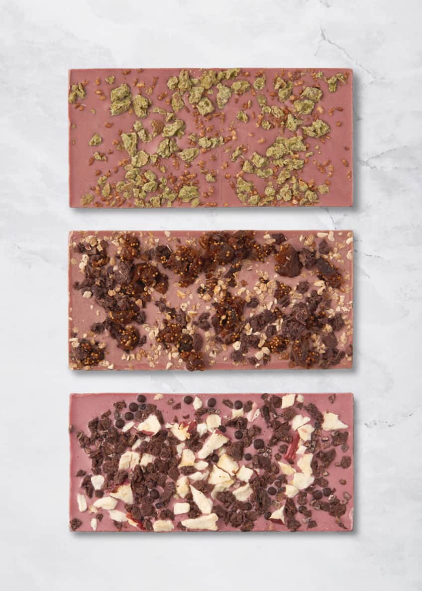 Image 2 of 2: Set of New York, Paris and Tokyo Ruby Cacao Bars
