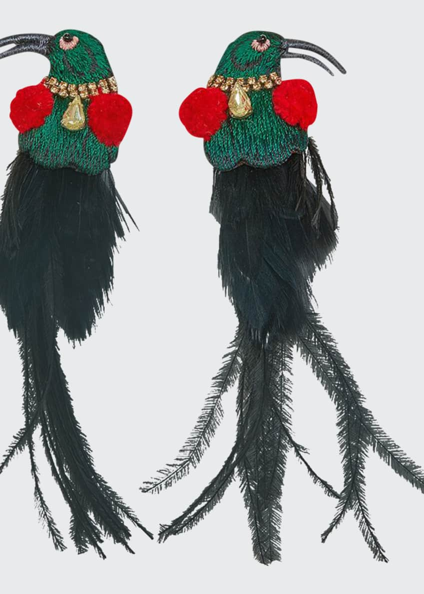 Mignonne Gavigan King Bird Feather Earrings