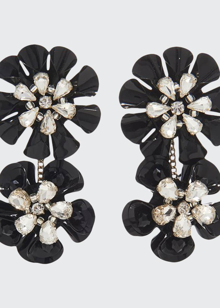 Image 1 of 1: Karolina Crystal Earrings, Black