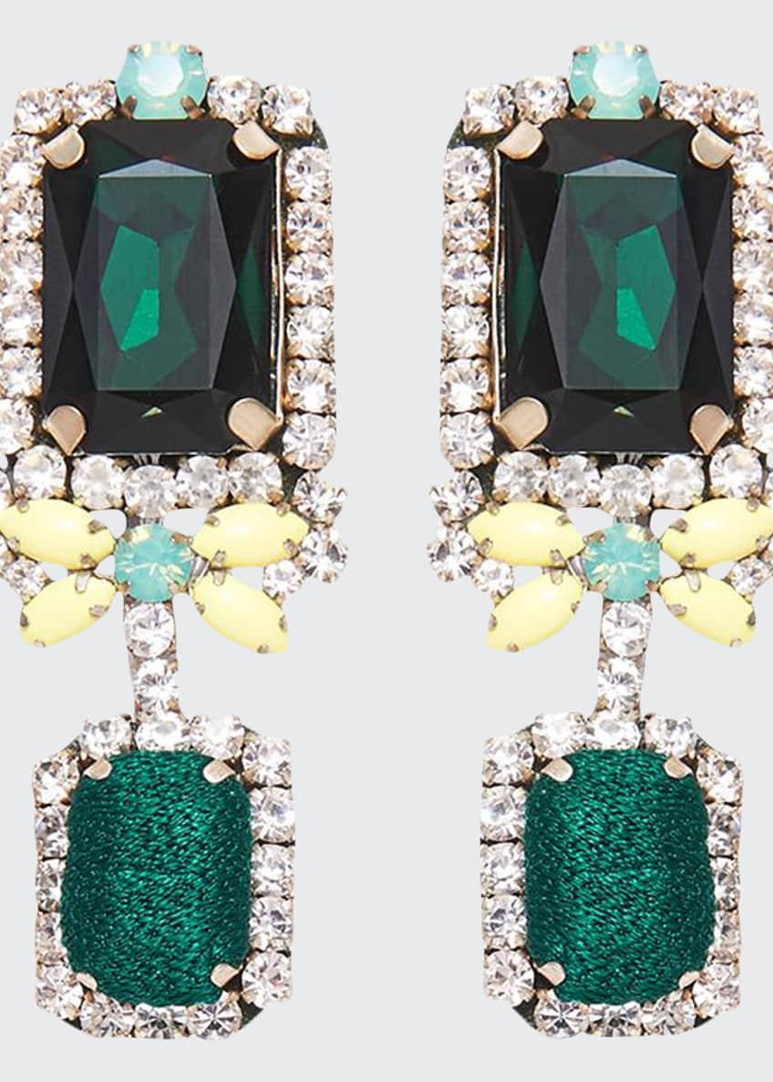 Mignonne Gavigan Isabelle Drop Earrings, Green