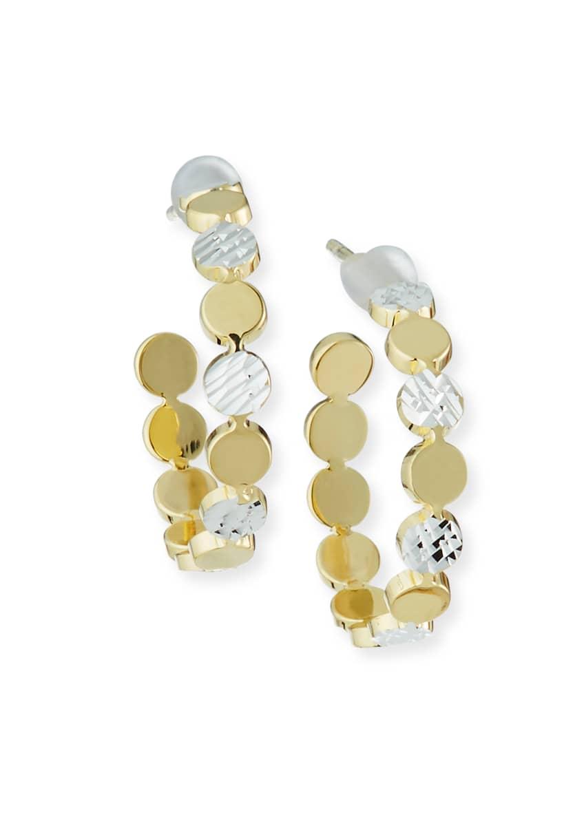 Jennifer Zeuner Bea Two-Tone Small Hoop Earrings
