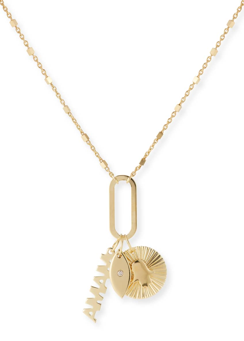 Jennifer Zeuner Nelly 3-Charm Necklace