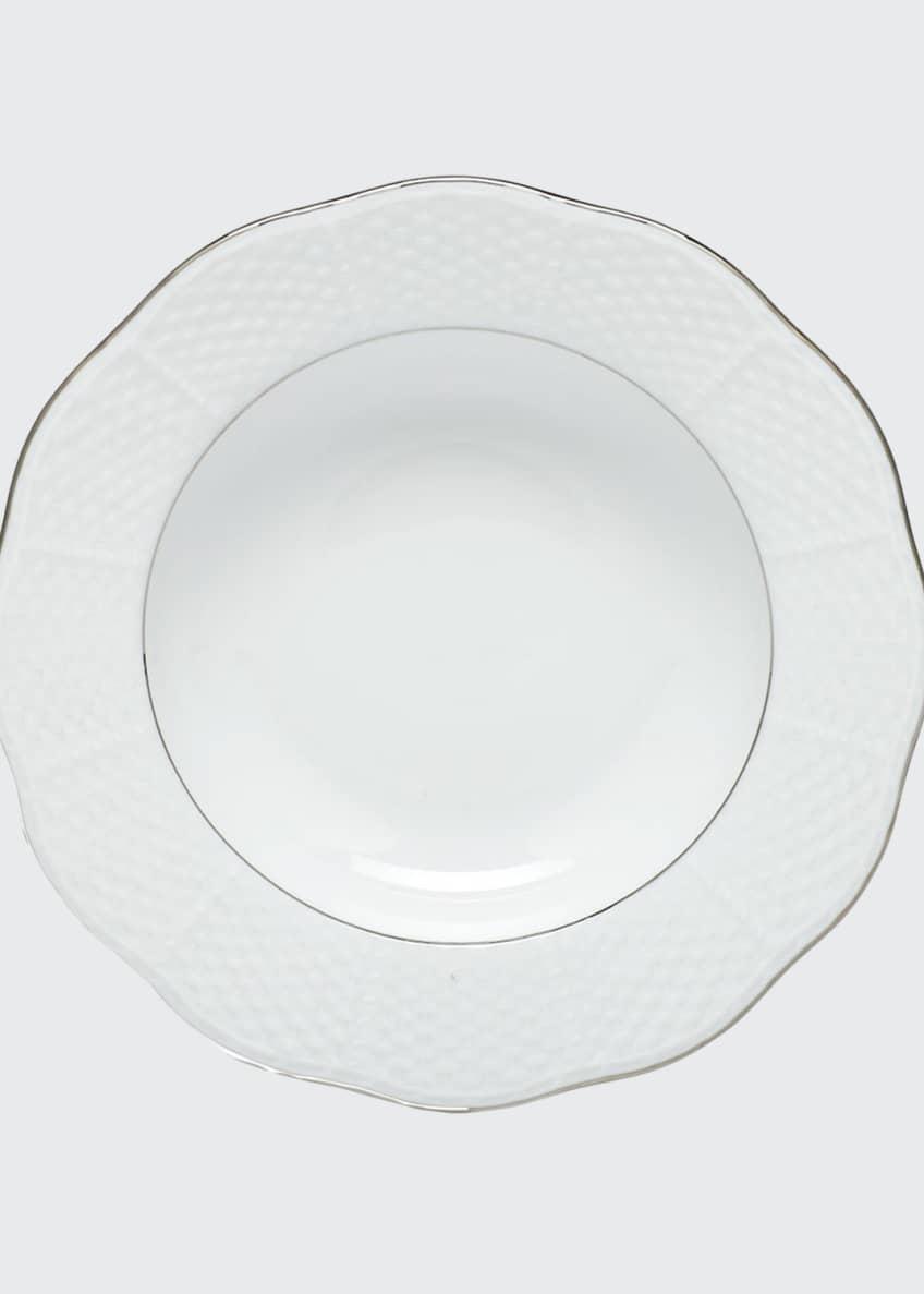 Herend Platinum Edge Rim Soup Plate