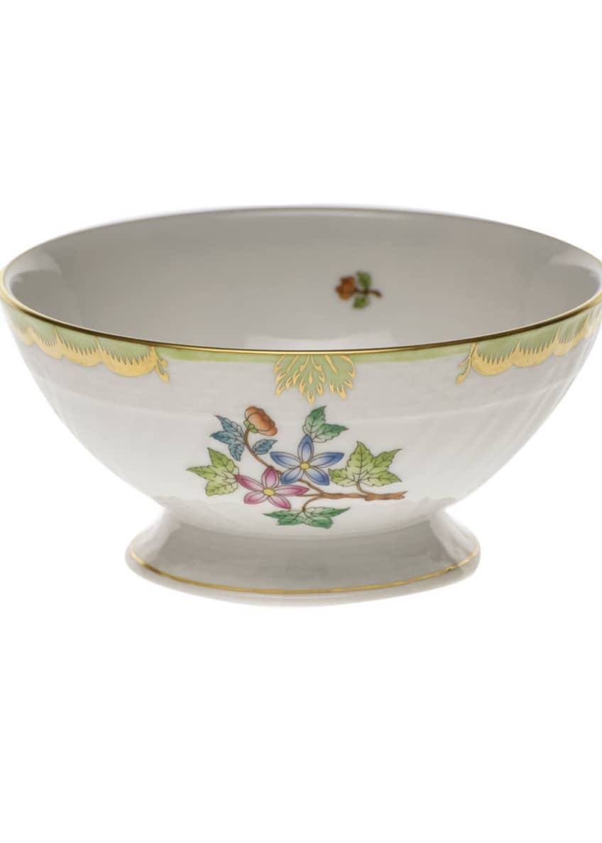 Herend Queen Victoria Green Footed Bowl