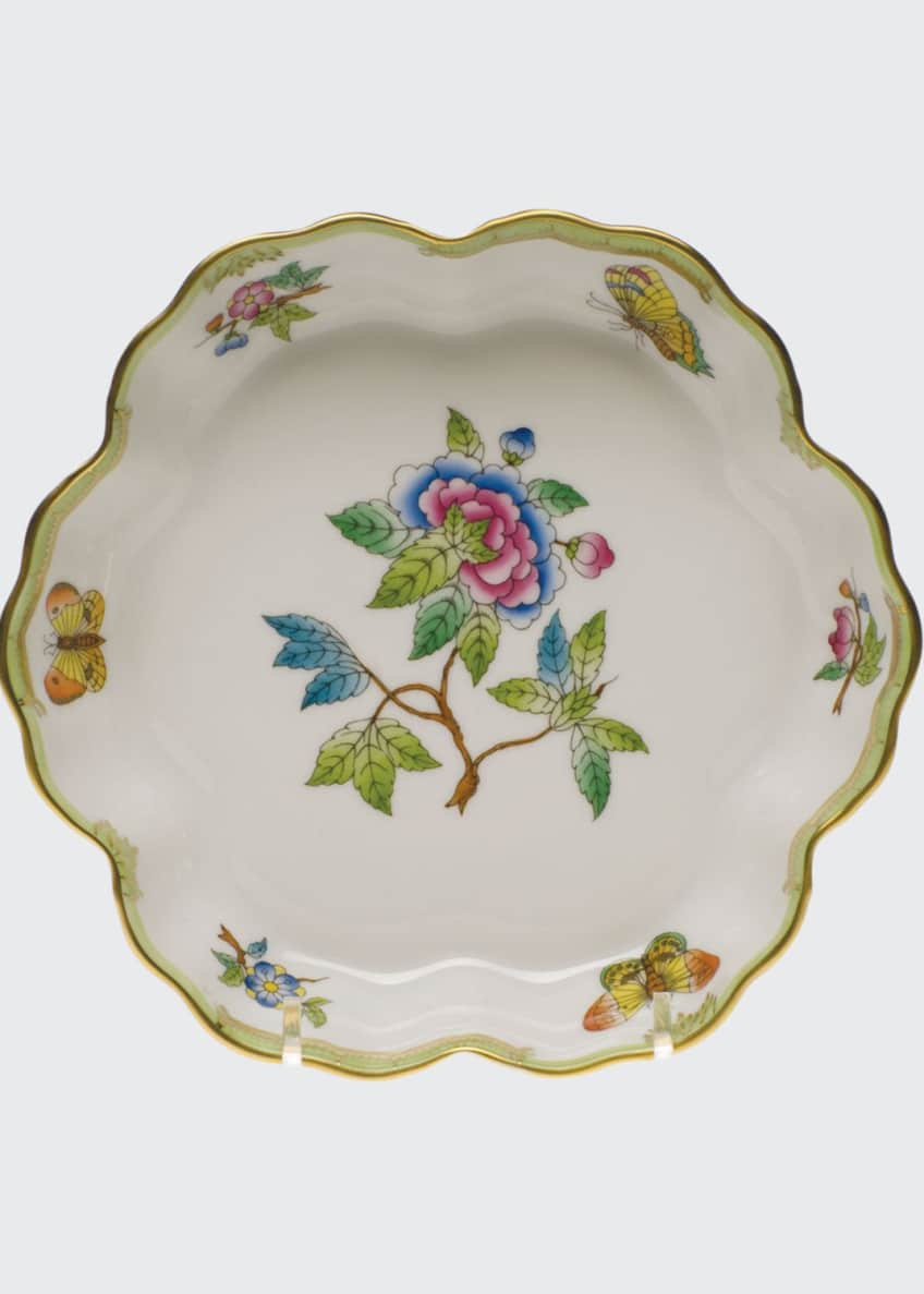 Image 1 of 1: Queen Victoria Green Fruit Bowl
