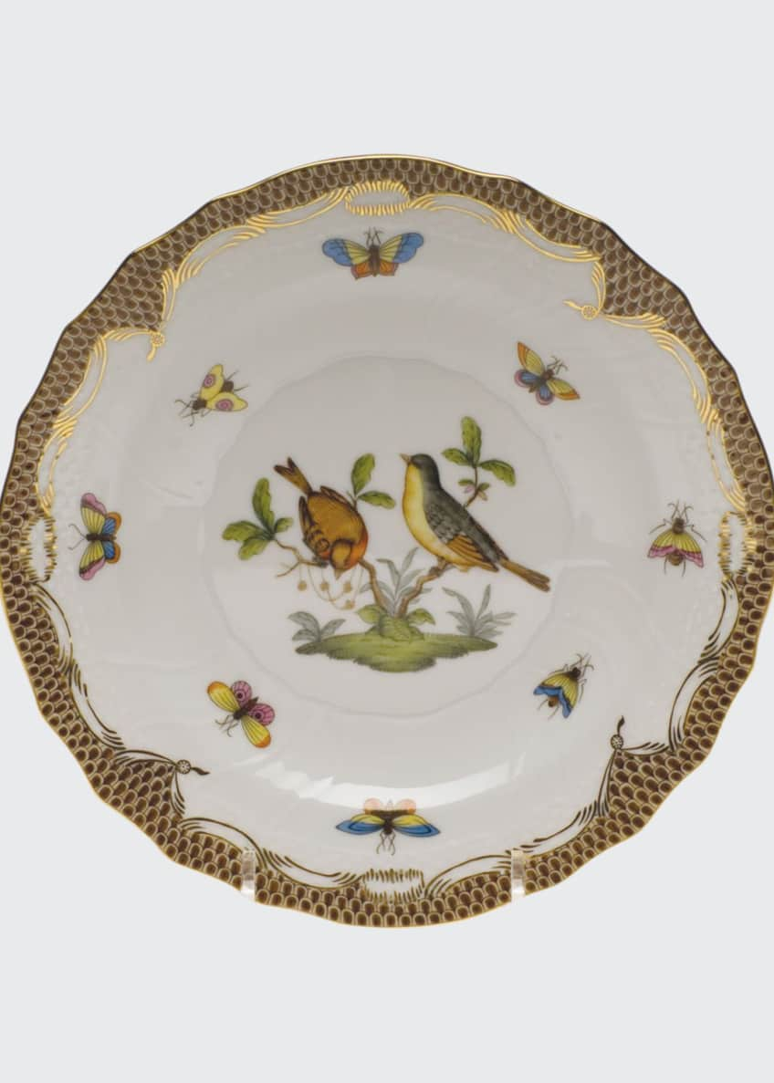 Herend Rothschild Bird Brown Motif 07 Salad Plate