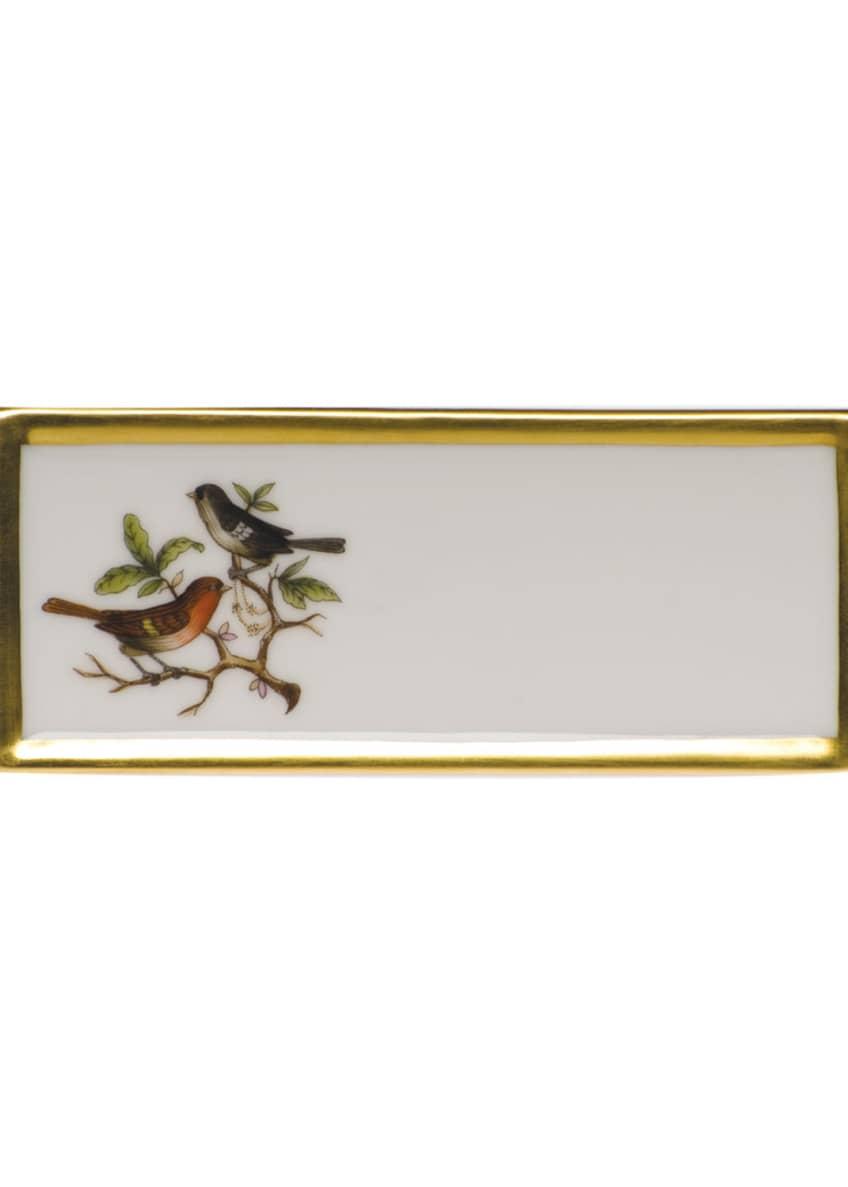 Herend Rothschild Bird Pla5e Card Holder - Motif