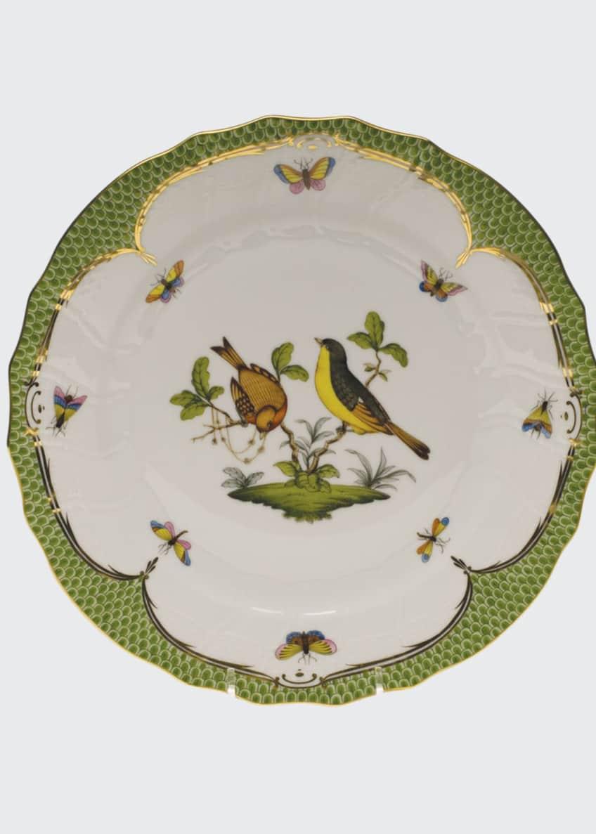 Herend Rothschild Bird Green Motif 07 Dinner Plate