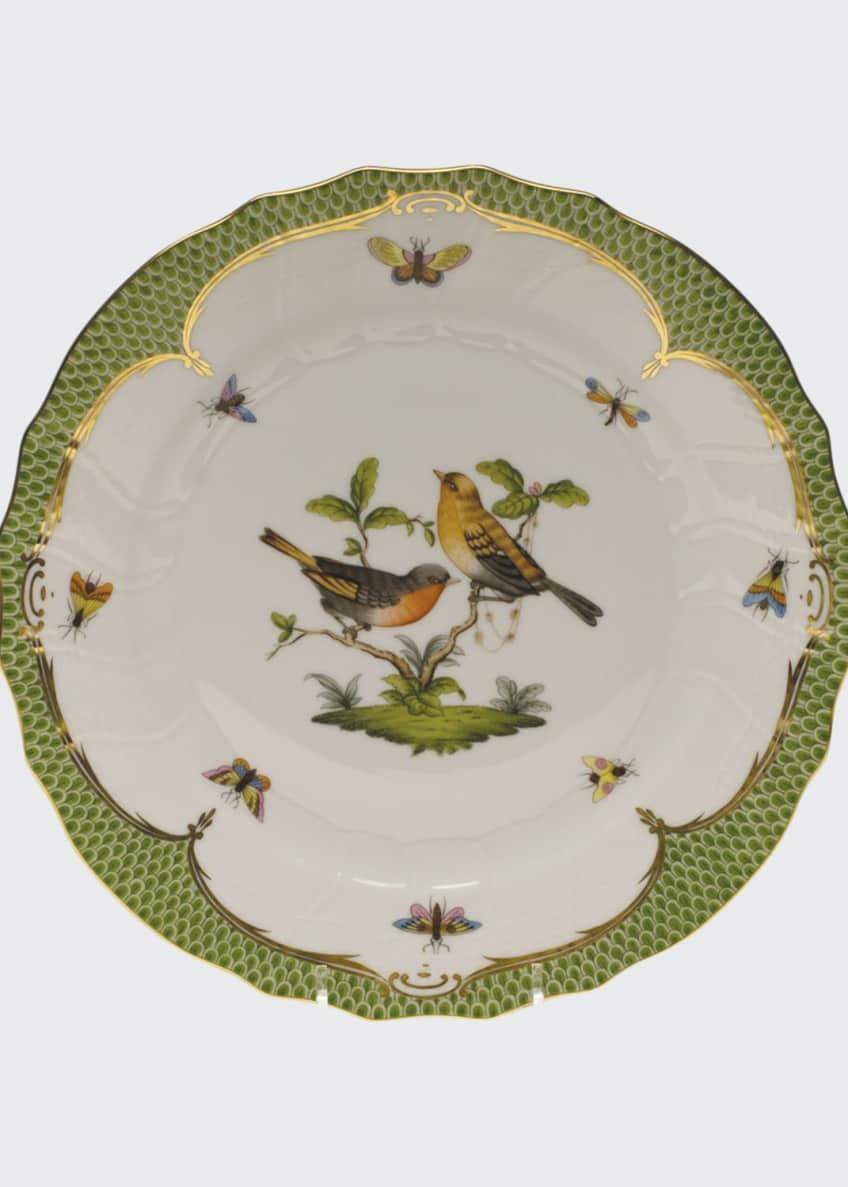 Herend Rothschild Bird Green Motif 09 Dinner Plate