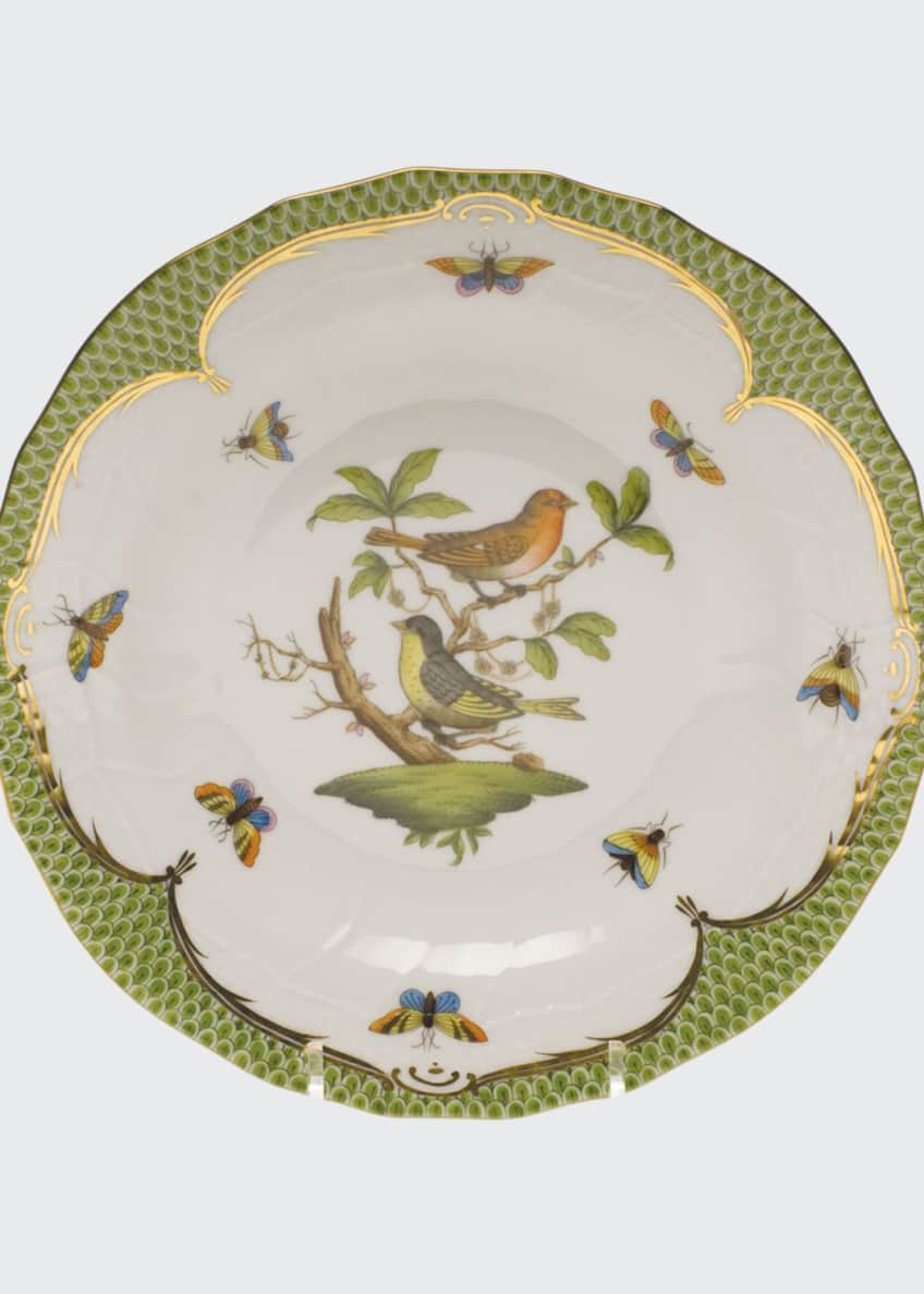 Image 1 of 1: Rothschild Bird Green Motif 03 Dessert Plate