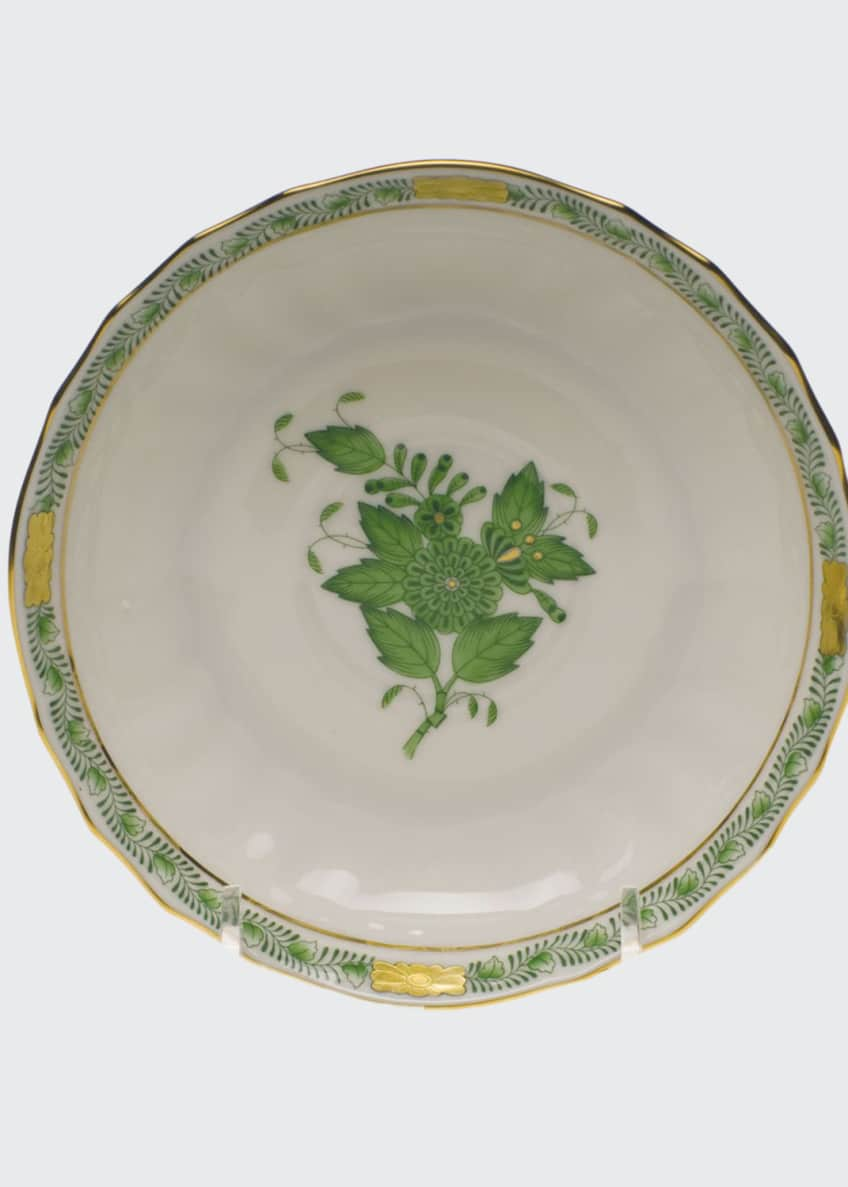 Herend Chinese Bouquet Green Canton Saucer
