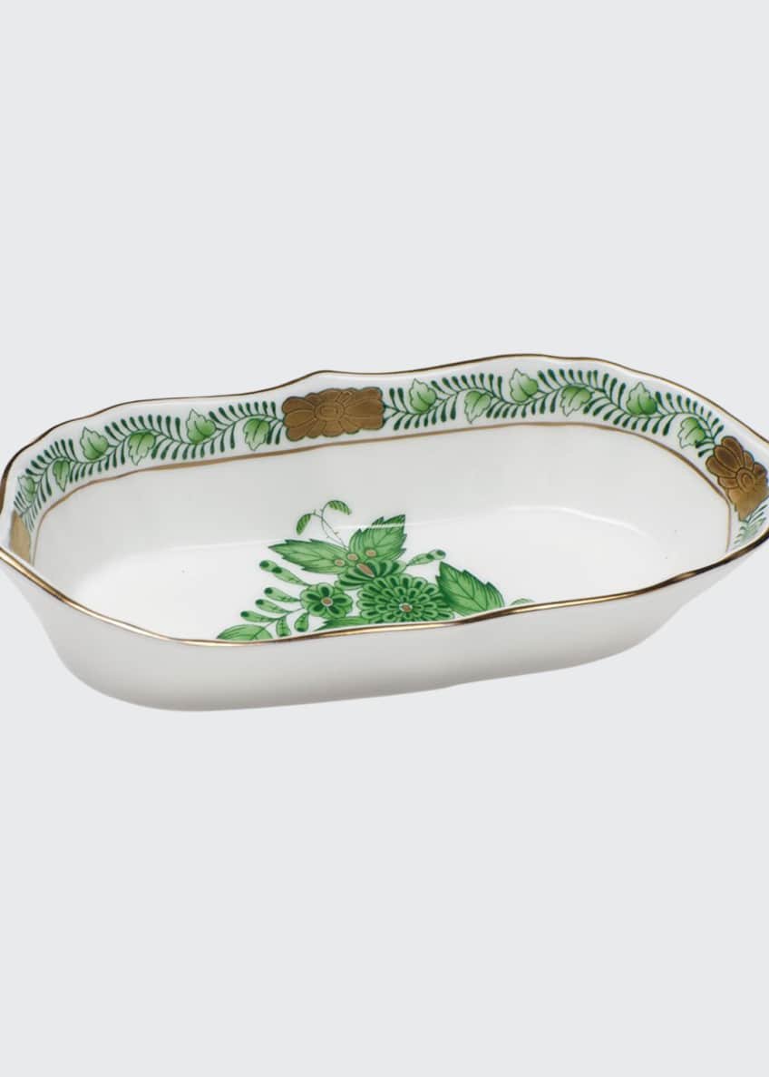 Image 1 of 1: Chinese Bouquet Green Narrow Pin Dish