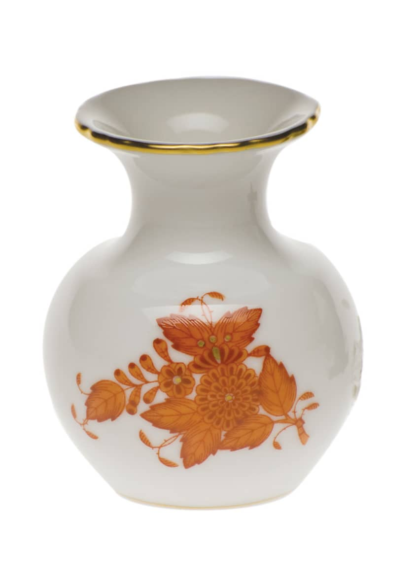 Herend Chinese Boutique Rust Medium Bud Vase with