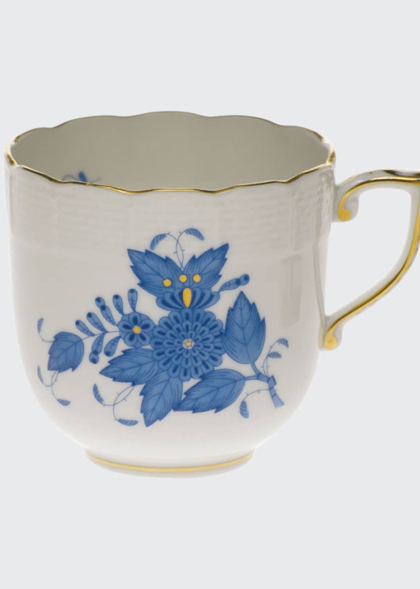 Herend Chinese Bouquet Blue Mocha Cup