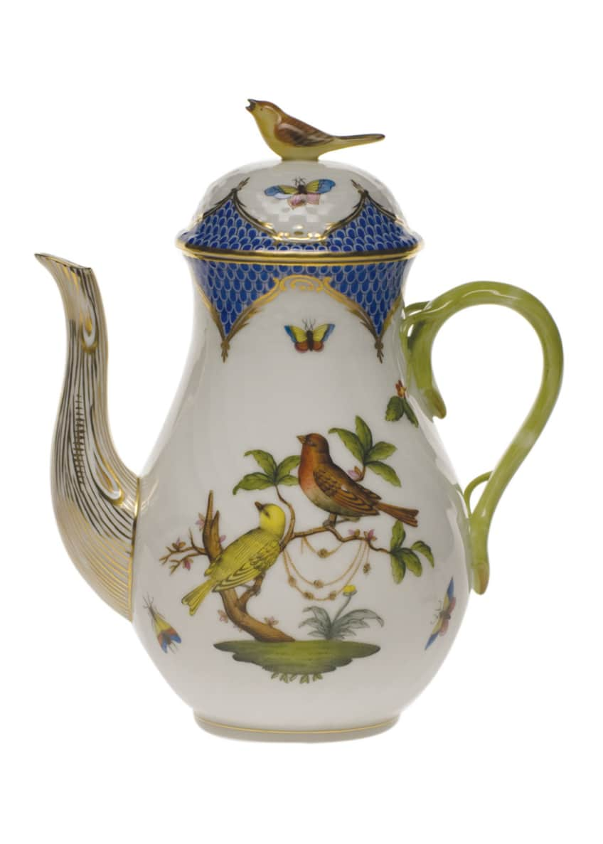 Image 1 of 1: Rothschild Blue Coffee Pot with Bird