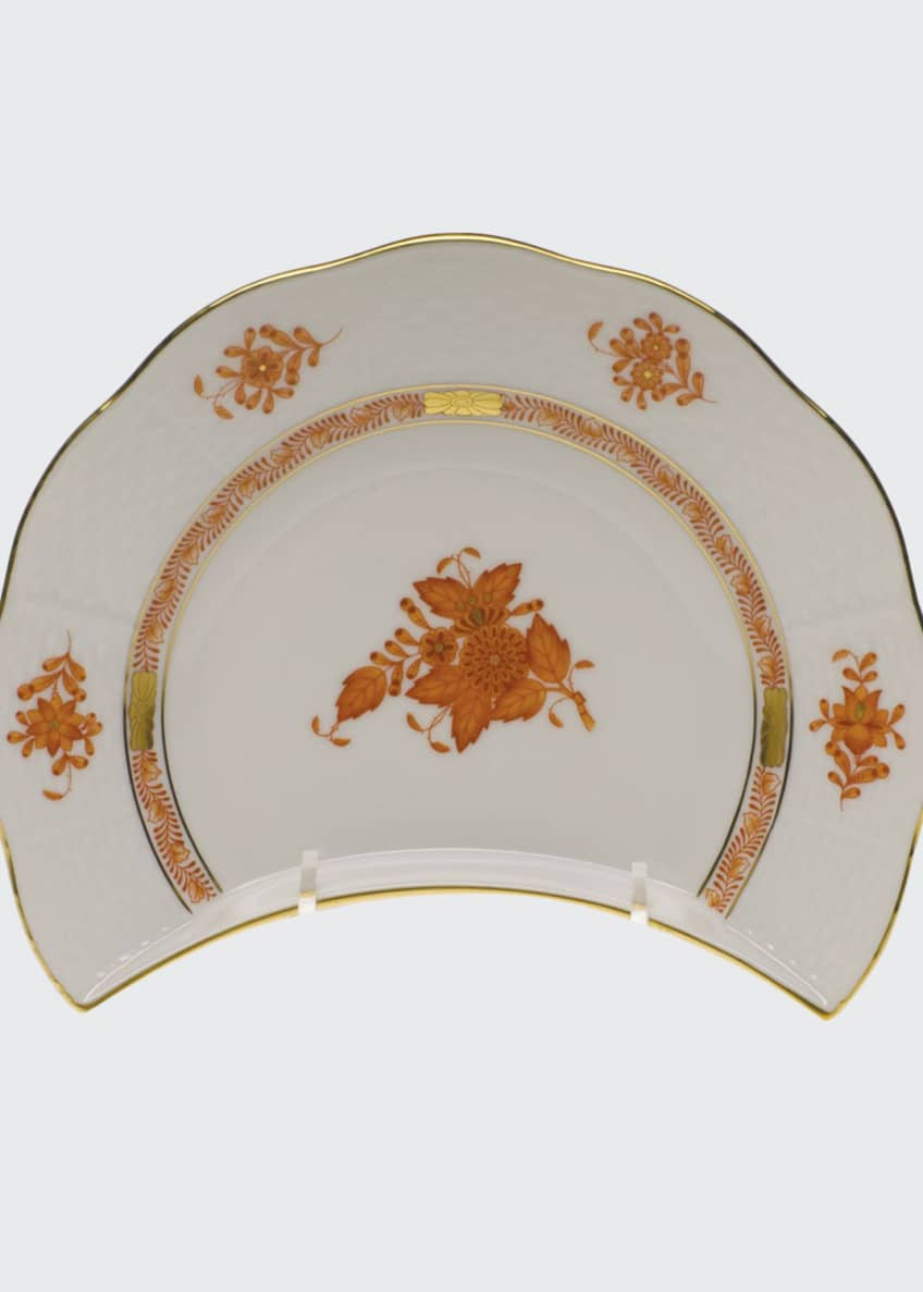 Herend Chinese Boutique Rust Crescent Salad Plate