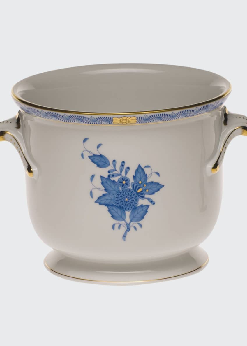 Herend Chinese Bouquet Blue Small Cache Pot