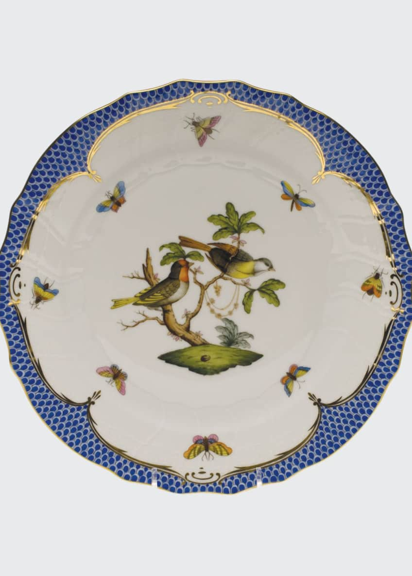 Herend Rothschild Blue Motif 11 Dinner Plate