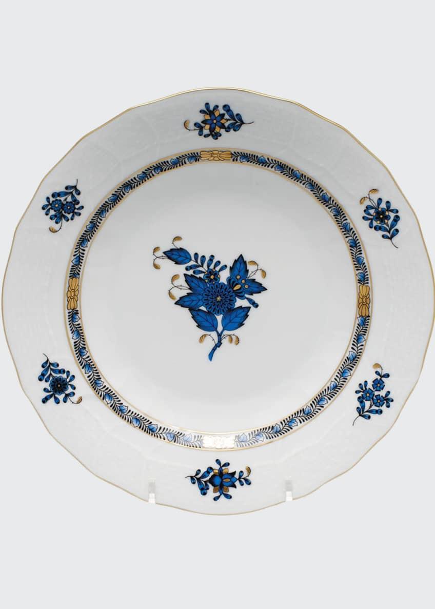 Herend Chinese Bouquet Black Sapphire Dessert Plate