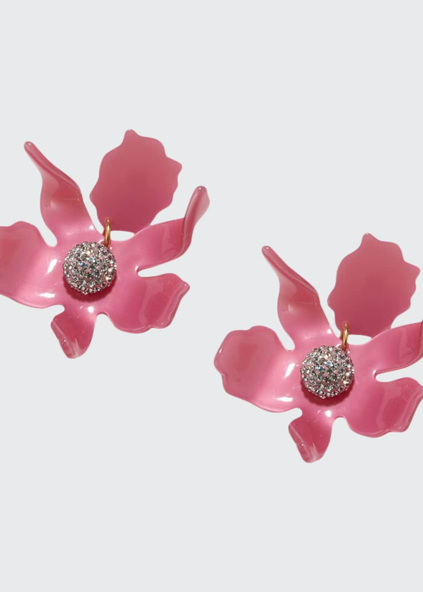 Lele Sadoughi Crystal Lily Stud Earrings, Pink