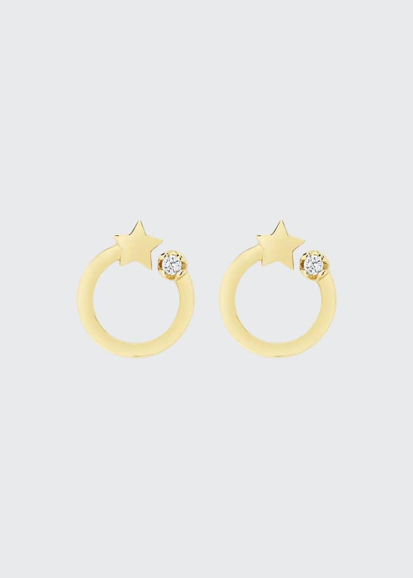 Andrea Fohrman 14k Shooting Star Circle Stud Earrings