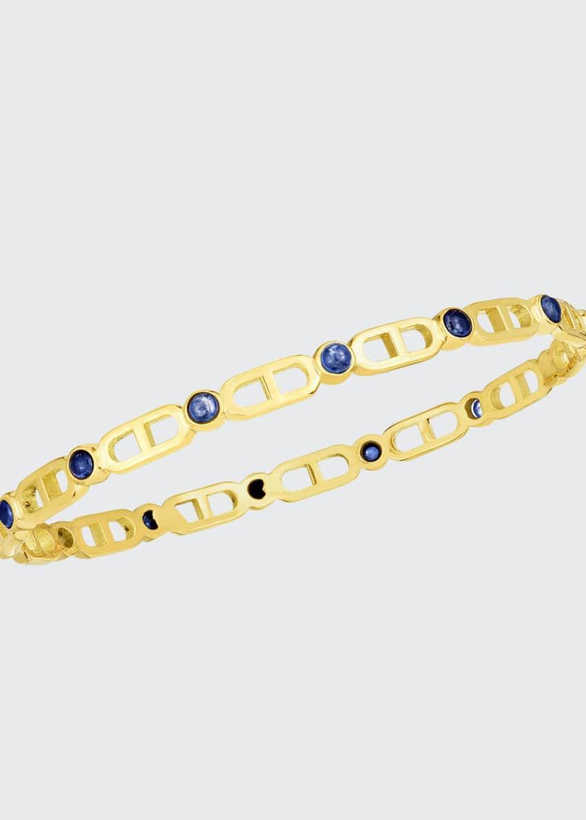 Audrey C. Jewels Cheval 18k Sapphire Bangle Bracelet,
