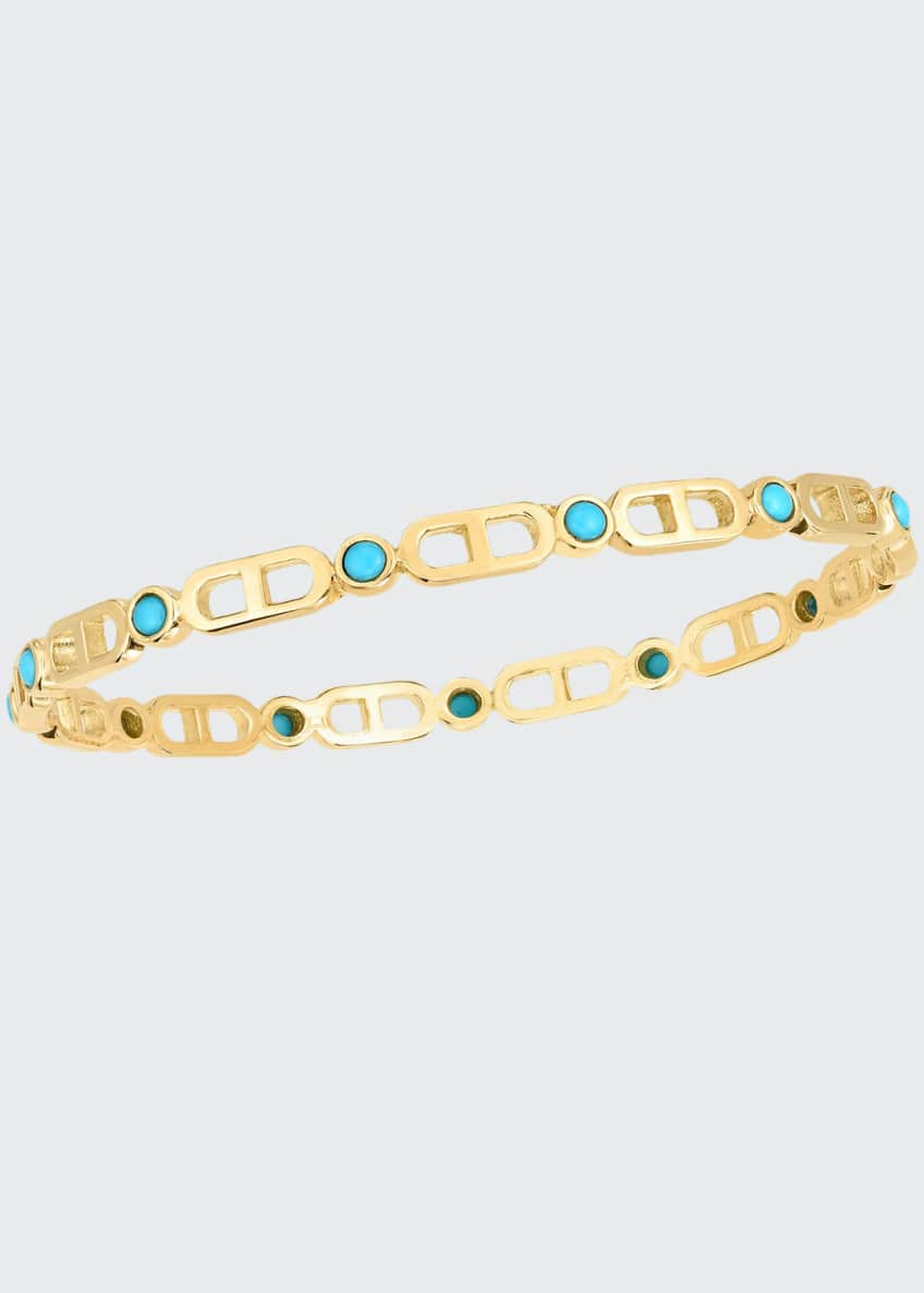 Audrey C. Jewels Cheval 18k Bangle Bracelet, Large