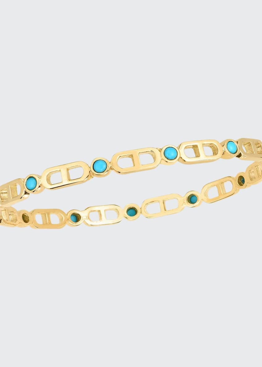 Audrey C. Jewels Cheval 18k Bangle Bracelet, Small