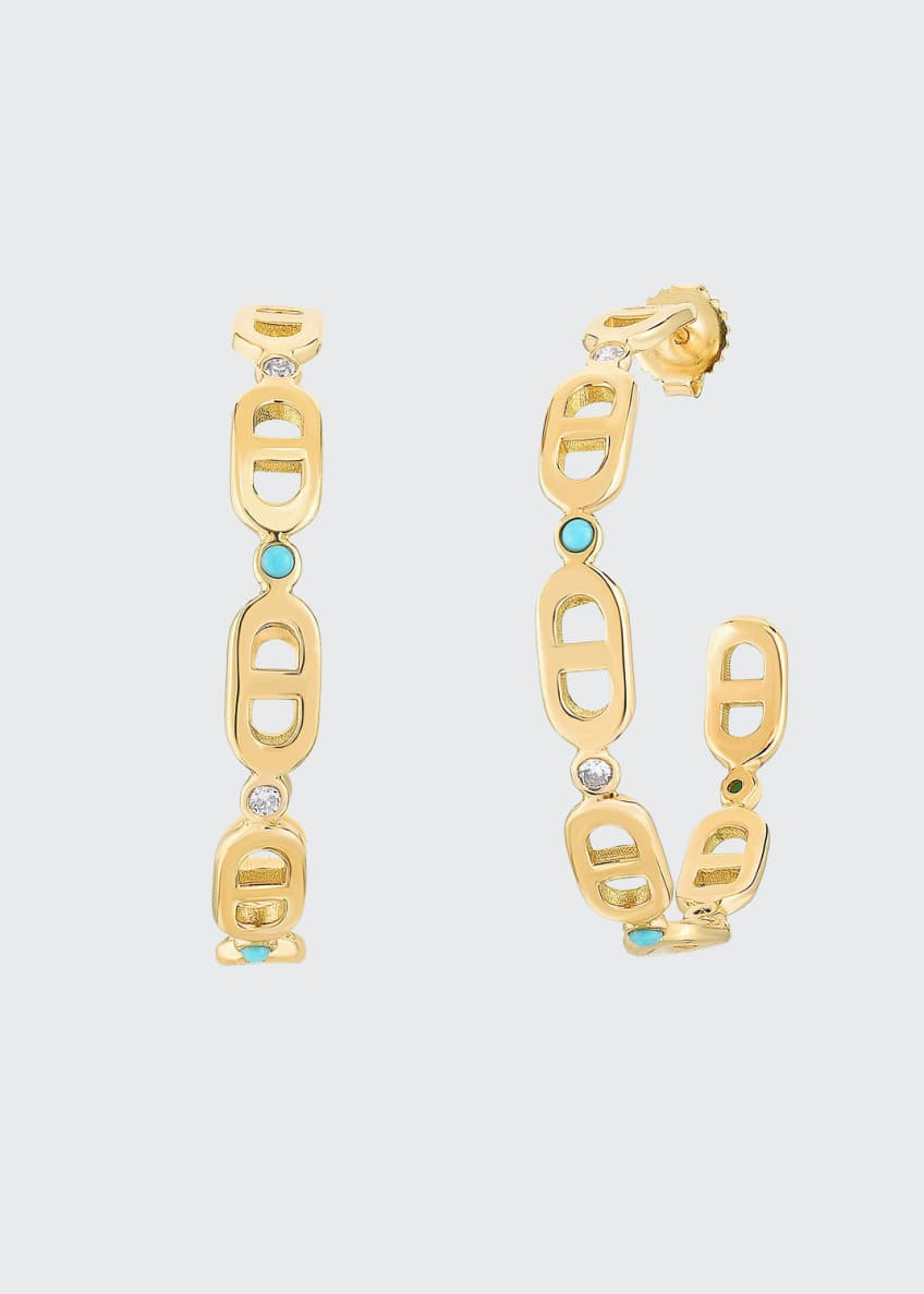 Audrey C. Jewels Cheval 18k Gold Hoop Earrings