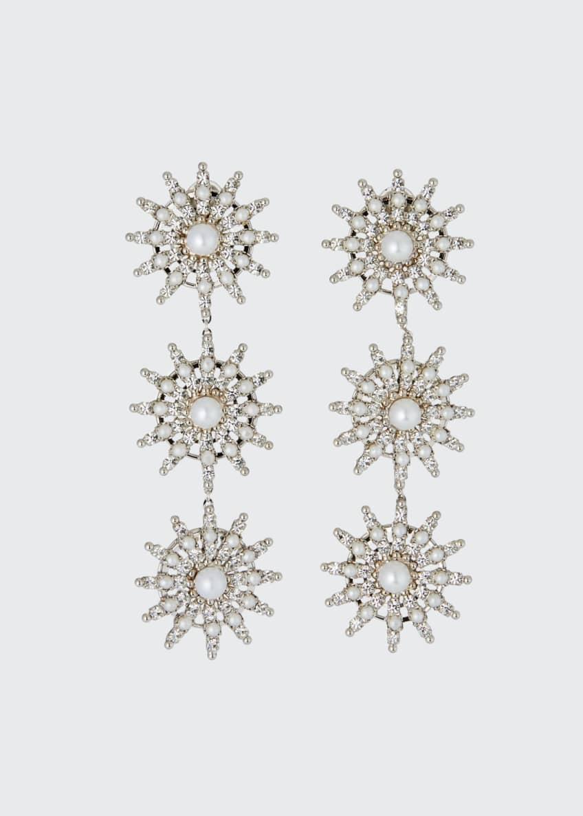 Auden Pearly Crystal-Spike Linear Clip Earrings