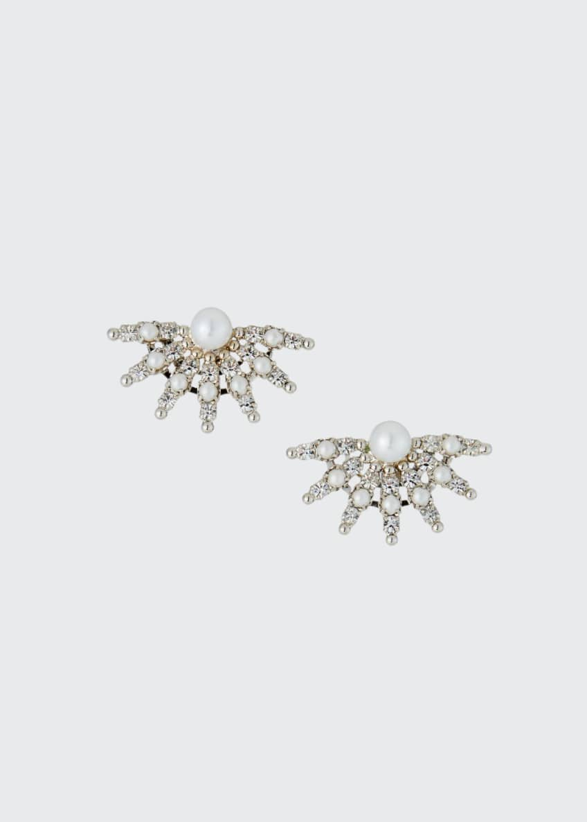 Auden Pearly Crystal-Spike Clip-On Earrings