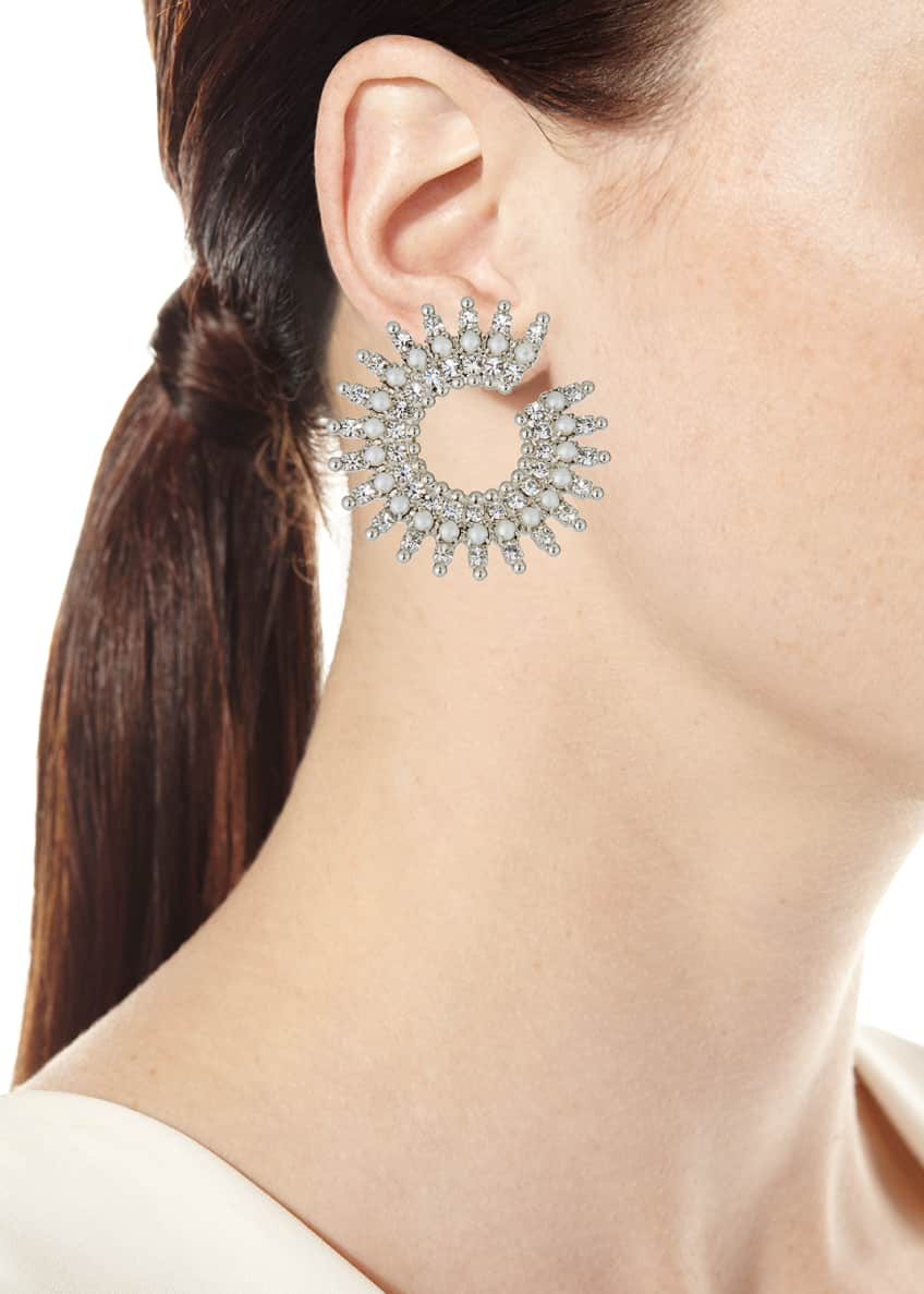 Image 2 of 2: Holloway Pearly Crystal-Spike Earrings