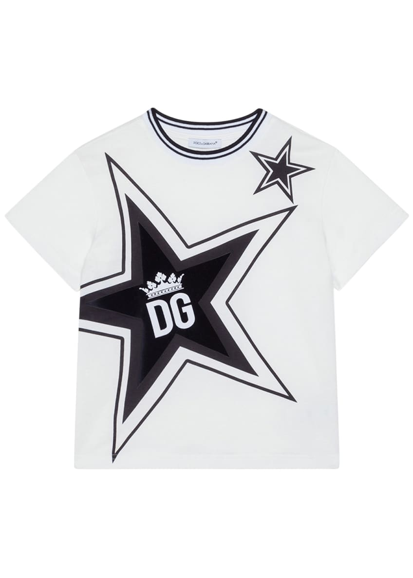 Image 1 of 2: Boy's Millennials Star Print T-Shirt, Size 8-12