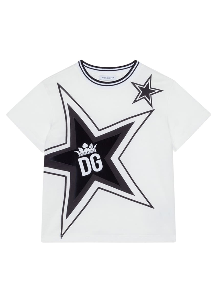 Image 1 of 4: Boy's Millennials Star Print T-Shirt, Size 4-6